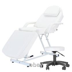 Massage Bed Beauty Salon Massage Couch Table Cushion Metal Steel Frame White NEW