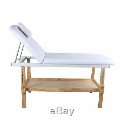 Massage Bed Table Beauty Spa Wooden Frame Height Adjustable White By Salon Store