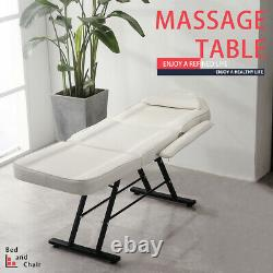 Massage Couch Bed Adjustable Beauty Salon Tattoo Facial Therapy Home Relaxing UK