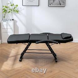Massage Couch Bed Beauty Salon Chair Spa Tattoo Reclining Salon Chair Black