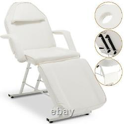 Massage Couch Bed Beauty Salon Chair Spa Tattoo Reclining Salon Chair White
