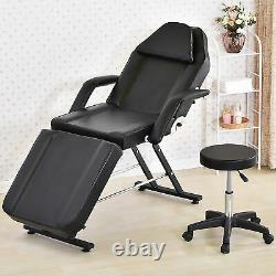 Massage Couch Bed Chair&Stool Fit Beauty Salon Table Tattoo Therapy Adjustable
