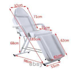 Massage Couch Chair with Stool Adjustable Beauty Salon Bed Tattoo Therapy Home UK