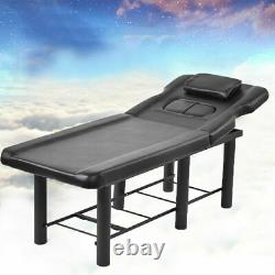 Massage Table Beauty Bed Portable Salon Spa Tattoo Therapy Black Couch Metal Leg