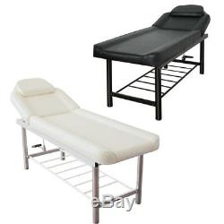 Massage Table Beauty Salon Chair Bed Physio Tattoo Waxing Spa Couch Rack Storage