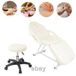 Massage Table Beauty Salon Recliner Chair Tattoo Facial SPA Massaging Bed+Stool