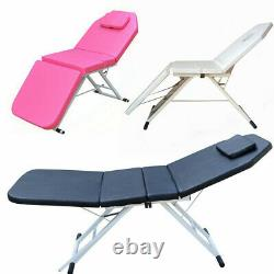 Massage Table Bed Black/White/Pink Therapy Beauty Salon Couch Salon Portable