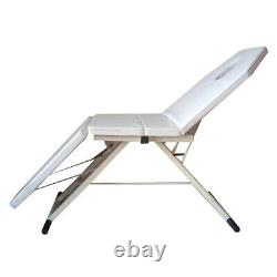 Massage Table Bed White Therapy Beauty 3 Sections Beauty Couch Salon Portable