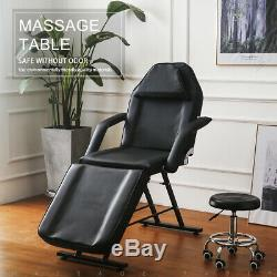 Massage Table Chair with Stool Tattoo Salon Table Beauty Therapy SPA Couch Bed