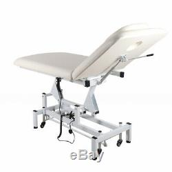 Massage Table Electric Therapy Bed Salon Beauty Treatment Couch White Physio Spa