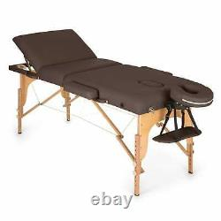 Massage Table Portable Therapy Bed Foldable Beauty Salon Padded Portable Brown