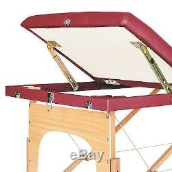 Massage Table Portable Therapy Bed Foldable Beauty Salon Tattoo Portable Red