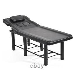 Massage Table Spa Bed Portable Beauty Salon Tattoo Therapy Couch Metal Leg Black