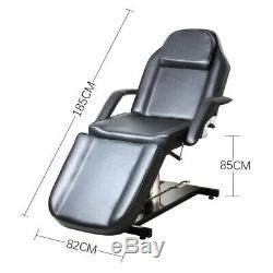 PU Beauty Couch Massage Chair Facial Table Spa Salon Tattoo Bed Hydraulic Adjust