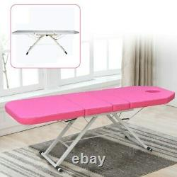 Portable Folding Massage Table Bed Therapy Beauty Salon 3 Sections Couch Chair