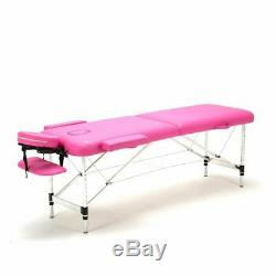 Portable Massage Table Bed Lightweight Beauty Salon Therapy Tattoo Couch Pink