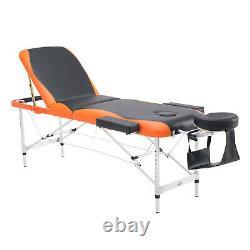 Professional Massage Table Bed Portable Couch Beauty Folding Salon Black Orange