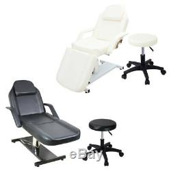 Professional Salon Massage Table Bed Beauty Facial Threading Tattoo Couch +Stool