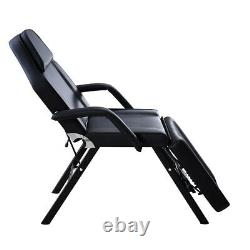 Recliner Beauty Salon Massage Bed Chair Stool Set Tattoo Therapy Facial Black UK
