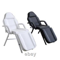 Reclining Beauty Salon Bed Chair + Stool Set Massage Table Tattoo Therapy Couch