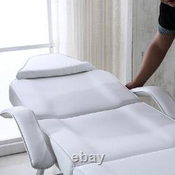 Reclining Beauty Salon Massage Bed Table Chair Couch Facial Therapy with Stool