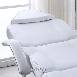 Reclining Beauty Salon Massage Bed Table Chair Stool Couch Facial Therapy White