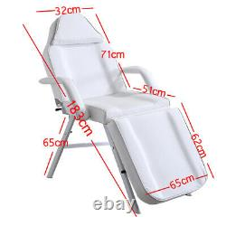 Reclining Chair Bed Salon Beauty Facial Therapy Massage Table Tattoo Couch Stool