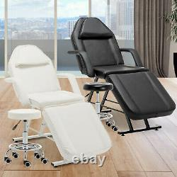Reclining Massage Couch Bed Chair Beauty Salon Table Facial Therapy Tattoo Stool