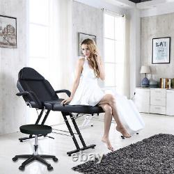 Reclining Massage Salon Chair Adjustable Couch Bed & Stool Beauty Salon Table UK