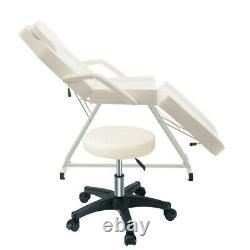 Reclining Massage Table Beauty Salon Tattoo Therapy Facial Couch Bed+Chair Stool