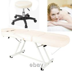Reclining Salon Beauty Chair Bed Facial Therapy Massage Table Tattoo Couch Stool