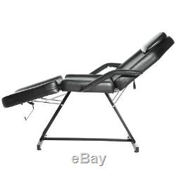 Reclining Salon Massage Bed Tattoo Table Beauty Therapy Chair Bench with 1 Stool