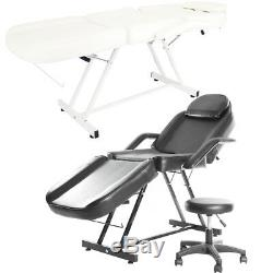 Spa Beauty Salon Chair Massage Table Recline Couch Cupping Therapy Bed and Stool