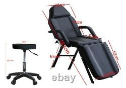 UK Massage Couch Bed Chair & Stool Fit Beauty Salon Table Tattoo Therapy