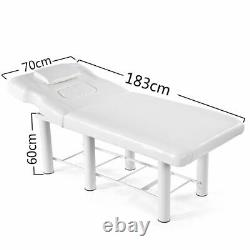 White Beauty Bed Couch Massage Salon Table Physio Tattoo Removable Headrest UK