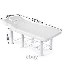 White Beauty Salon Table Massage Bed Pedicure Tattoo Facial Therapy Couch UK