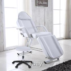 White Massage Bed Chair&Stool Fit Beauty Salon Table Tattoo Therapy Adjustable